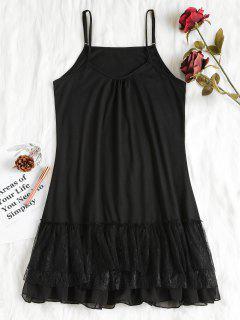 Layered Ruffles Nightdress - Black Xl