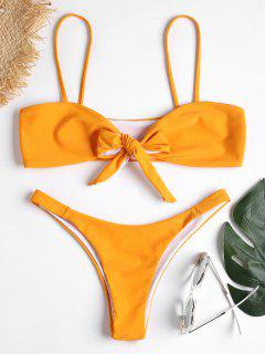 Tie Front Bikini Set - Saffron L