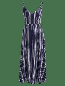 S Medianoche Lazo Vestido Rayas De Maxi Pajarita Con A Y Azul Rwp1wvq