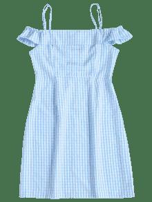 Hombros Con Azul Mini Claro De Vestido Descubiertos S Guinga 4q4tIZS