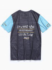 De Gris De B Corta 233;isbol Camiseta Manga Xl Estampada fw5q64F