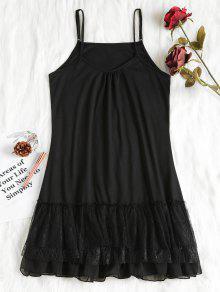 الطبقات الكشكشة ثوب النوم - أسود Xl