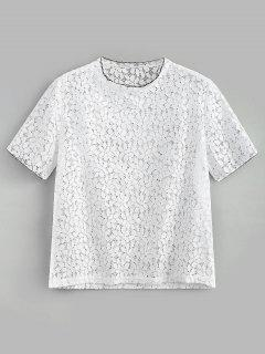 Eyelet Lace Top - White M