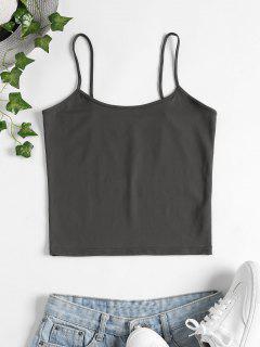 Skinny Cami Crop Top - Dark Gray M