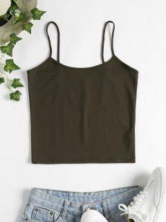 Skinny Cami Crop Top - Army Green M