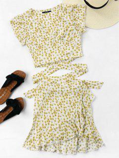 Wrap Top And Skirt Set - Warm White Xl
