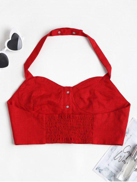 Camisa Top com Cortado Frente Única - Lava Vermelha S Mobile