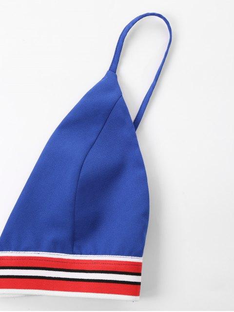 best Bra Two Piece Shorts Tracksuit - ROYAL BLUE XL Mobile