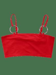 ring Tank Rojo Top M O Crop d1wCdq