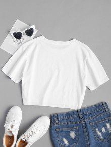 De Estampado L Estampada Con Blanco Letras Camiseta OxTAt