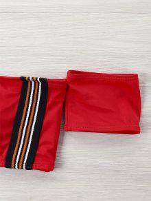 Bikini De Y Rojo Abierta Espalda 2xl Talla Con Talle Alto Grande rrwpxHBq
