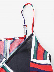 a De Tirantes Correa Multicolor S Espagueti De Imprimir Vestido De qASHBB