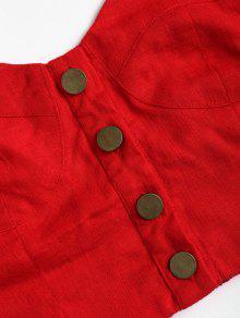 Blusa Con Halter Botones Cuello Lava Rojo El En M Corta rO5qx4wgr