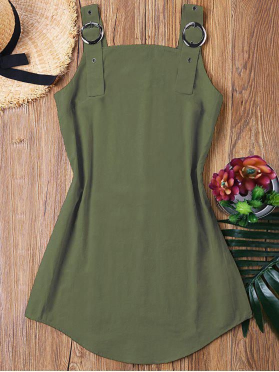 ladies Ring Strap Mini Dress - ARMY GREEN L