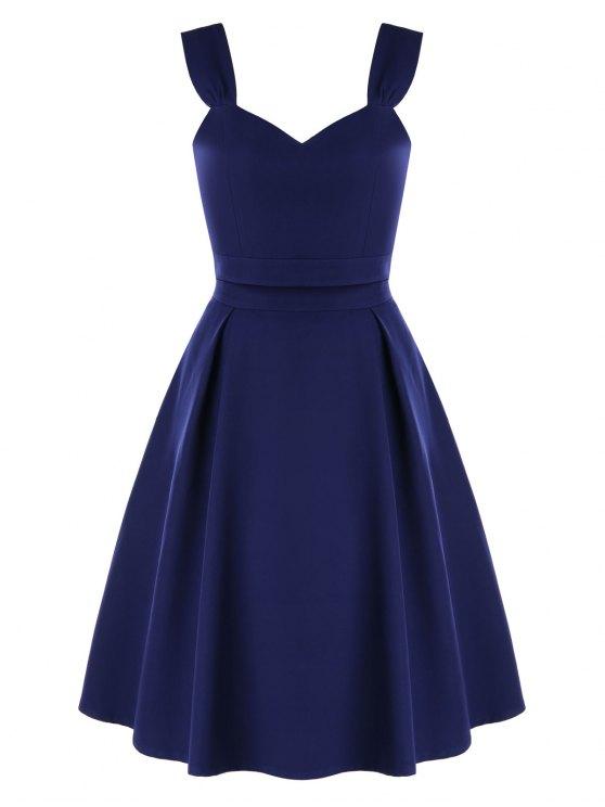 Vestido de fiesta de dos piezas de cintura alta - Azul de Medianoche XL