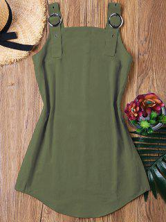 Ring Strap Mini Dress - Army Green S