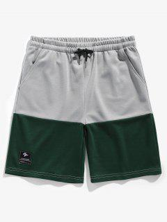Two Tone Sports Basketball Shorts - Green M