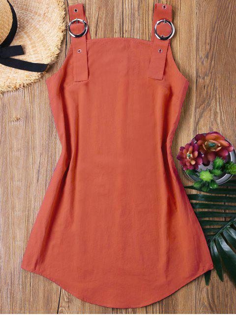 latest Ring Strap Mini Dress - ORANGE XL Mobile