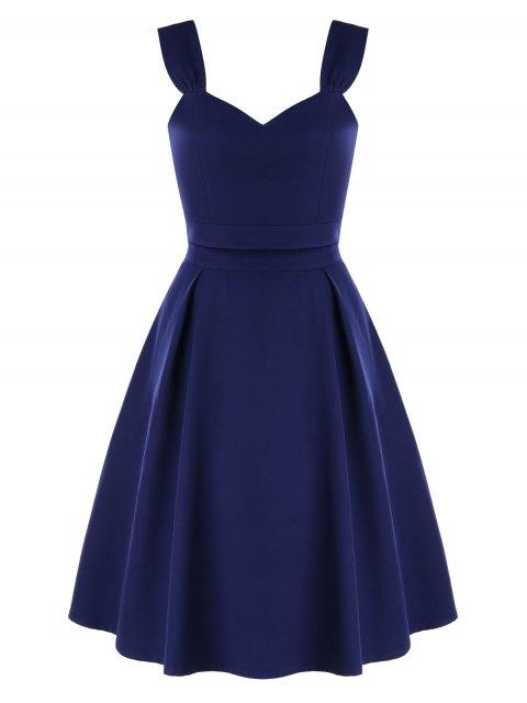 Vestido de fiesta de dos piezas de cintura alta - Azul de Medianoche XL Mobile