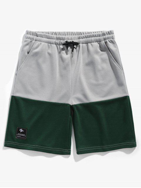Zweifarbige Sport Basketball Shorts - Grün M Mobile