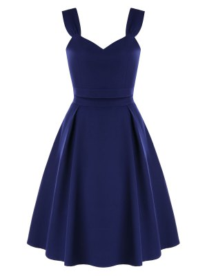 High Waist Two-piece Prom Dress - Midnight Blue S