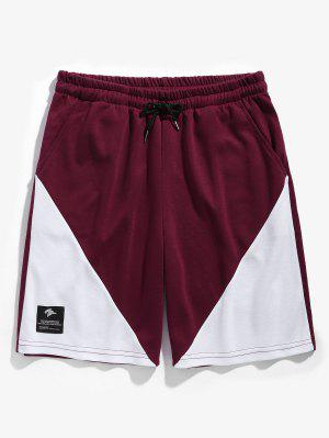 Drawstring Two Tone Basketball Shorts