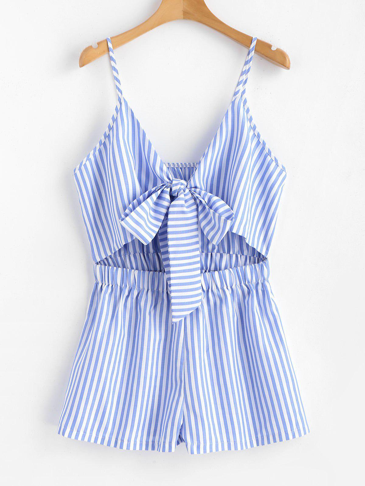 Cami Striped Tie Front