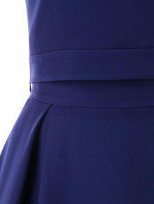 Cintura Alta Fiesta Azul Vestido De De S De De Medianoche Piezas Dos qYa7Sq
