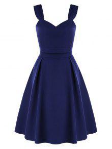 ارتفاع الخصر اثنين من قطعة اللباس الحفلة الراقصة - منتصف الليل الأزرق L