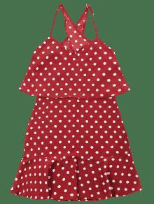 S De Rojo Lunares Vestido Popover q7Iw0dAA