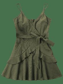 Volantes Ej Vestido Verde Del Mini Cami Con vtY4YSTn