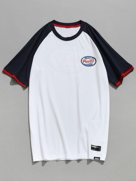Maglietta Da Pallacanestro Con Motivo - Bianco L