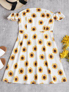 Sunflower Off The Shoulder Skater Dress - White L