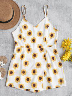 Sunflower Cami Cute Skort Romper - White S
