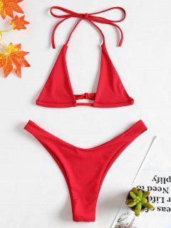 Halter Micro Bikini Set - Liebes Rot M