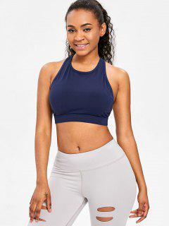 Mid Impact Racerback Sports Bra - Midnight Blue S