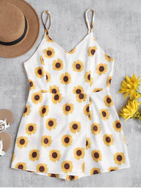 Sonnenblume Cami Netter Skort Strampler - Weiß S Mobile