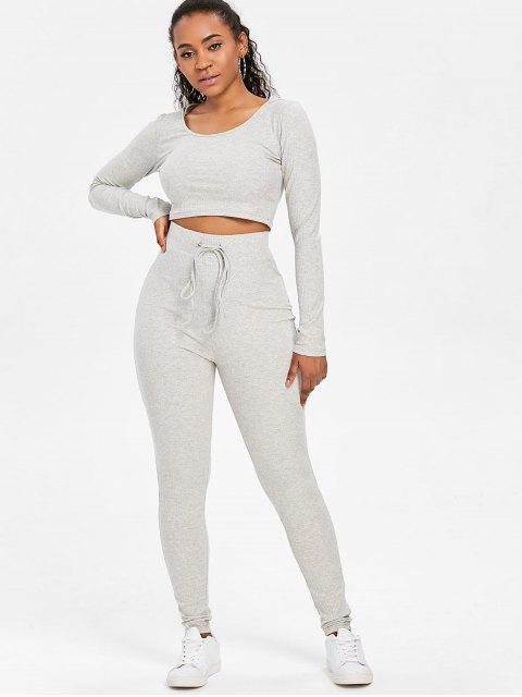 Traje corto de chándal y pantalones cortos - Nube Gris L Mobile