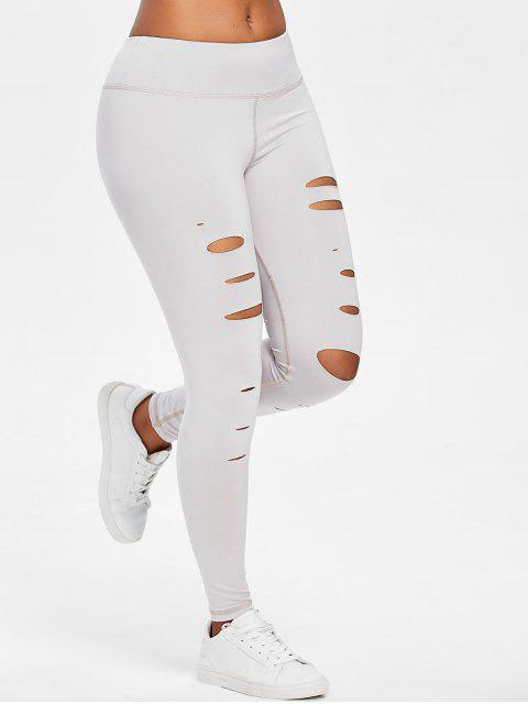Leggings deportivos de gimnasio - Gris Claro L Mobile