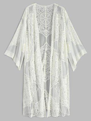 Bestickter Langarm Kimono