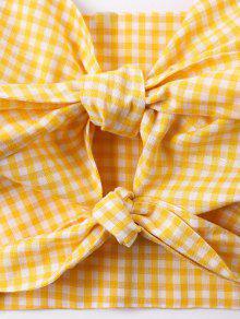 S Sin De Guinga Amarilla Abeja Anudada Mangas La De Camiseta 47TzqwT