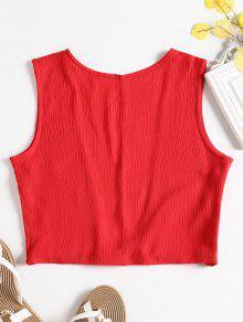 De S Camiseta Corte Rojo Sin Mangas Bajo 4nzwfEgq