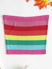 De Tubo Top Punto Rayas S De Multicolor A fPwqIO