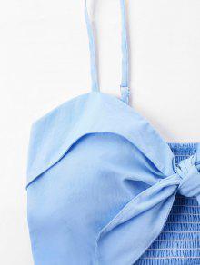 Cami Vestido Bowknot Azul Claro S 7qTZwU