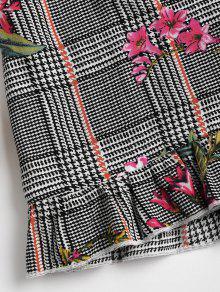 Multi De Gallo Skorts Floral Piezas Dos De De De Pata Conjunto L wqvC68SWx