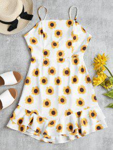 Sunflower Print Ruffle Sundress