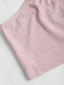 Top L Cami Acampanada Claro Rosa Superior Parte tSqpnzAUwx