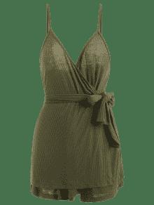 Pantalones Conjunto De Cintur Con S Cortos Verde Ejercito 243;n Correa De Con Espagueti rwCpq5n6r