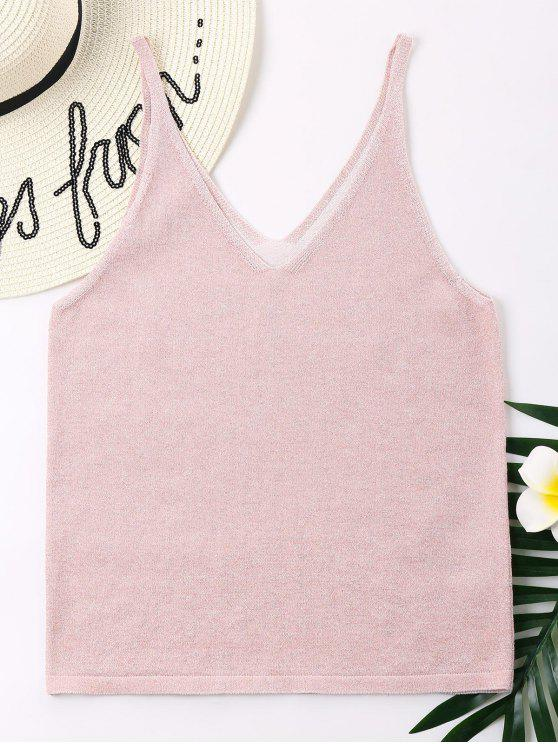 new V Back Tank Top - PINK XL