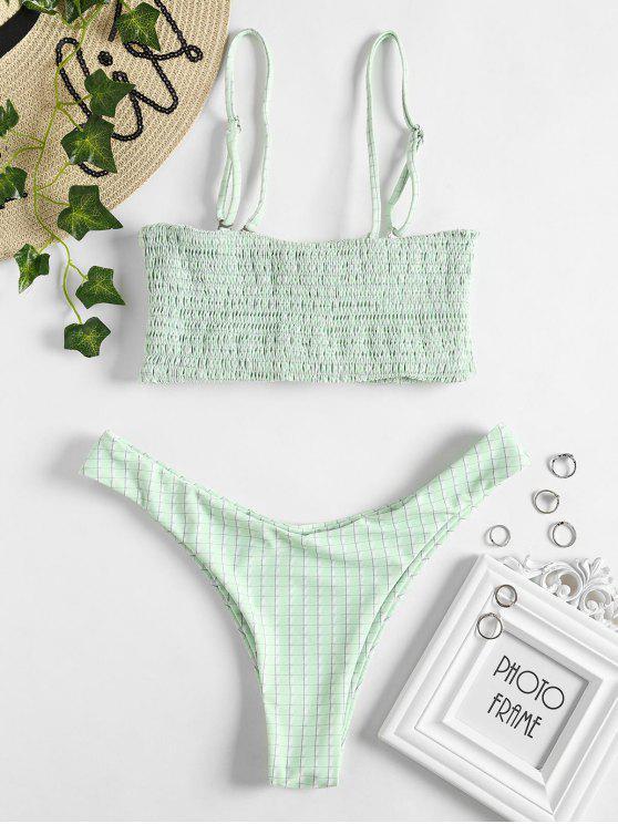 Smoked Grid Bikini Set - Verde Menta L
